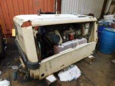 Ingersoll Rand Portable 185 CFM Diesel Air Compressor Model P185WJD (in maintenance building)
