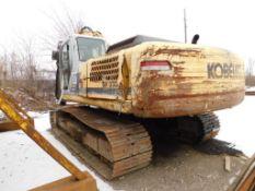 Kobelco Crawler Excavator Model SK330LC, S/N YC07-U1105, Mitsubishi 247 HP Diesel Power, One Piece