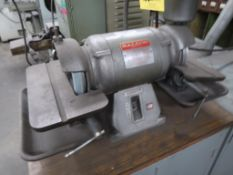 LOT: 6 in. Double End Tool Grinder, with (2) Cabinets (#1749), LOCATION: TOOL ROOM