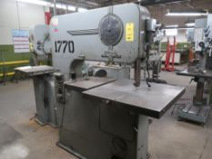 DoAll 36 in. Vertical Band Saw Model V36, 30 in. x 30 in. Tilting Work Table, Butt Welder (#1770),