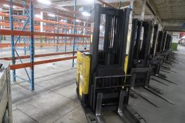 Prime Mover 4750 lb. Stand-up Reach Electric Forklift Model RR40, S/N 10877, 16,801 hours, LOCATION: