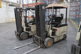 Crown 4000 lb. Electric Forklift Model 40FCTT-188, S/N 1A163246, 3-Stage Mast, Side Shift, 8645