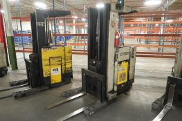 Crown 4500 lb. Stand-up Reach Electric Forklift Model RR3520-45, S/N 1A163046 (needs repair),