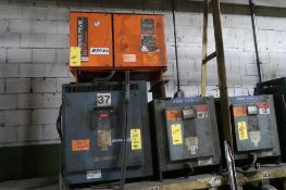 LOT: (4) Assorted Battery Chargers, LOCATION: MAIN PRESS FLOOR