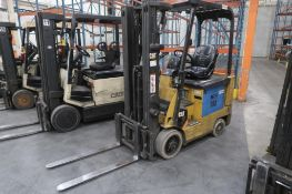 Caterpillar 3000 lb. Electric Forklift Model E3000, S/N A4EC140469, 3-Stage Mast, Side Shift, 4622