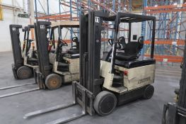 Crown 4000 lb. Electric Forklift Model 40FCTT-188, S/N 1A163118, 3-Stage Mast, Side Shift, 5095
