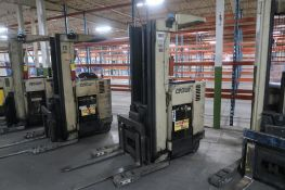 Crown 4500 lb. Stand-up Reach Electric Forklift Model 45RRTT, S/N 1A122138, 16,700 hours,
