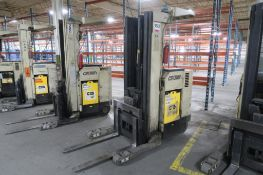 Crown 4500 lb. Stand-up Reach Electric Forklift Model 45RRTT, S/N N/A, 4446 hours, LOCATION: MAIN