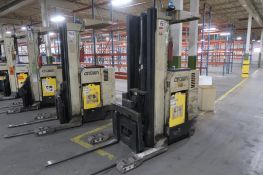 Crown 4500 lb. Stand-up Reach Electric Forklift Model 45RRTT, S/N 1A122151, LOCATION: MAIN PRESS
