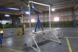 Gantry Type Work Table including Aero-Matic Balancer, LOCATION: MAIN PRESS FLOOR