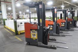 Toyota 4500 lb. Stand-up Reach Electric Forklift Model 6BR023, S/N 30556, 4969 hours, LOCATION: MAIN
