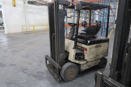 Crown 4500 lb. Electric Forklift Model 50FCTT-188, S/N 1A163271, 3-Stage Mast, Side Shift, 4195