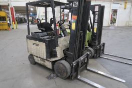 Crown 4000 lb. Electric Forklift Model 40FCTT-188, S/N 1A163127, 3-Stage Mast, Side Shift, 8222