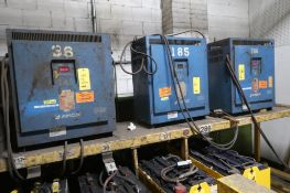 LOT: (3) Assorted Battery Chargers, LOCATION: MAIN PRESS FLOOR