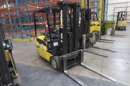 Yale 4000 lb. Electric Forklift Model ERP040TFN36FTSE, S/N A807N03778T, 3-Stage Mast, Side Shift,