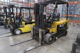 Yale 10,800 lb. Electric Forklift Model ERC120HGN48TE084, S/N A839V03103X, 3-Stage Mast, Side Shift,