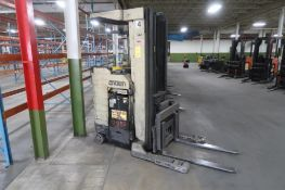 Crown 4500 lb. Stand-up Reach Electric Forklift Model 45RRTT, S/N 1A163147 (needs repair), LOCATION: