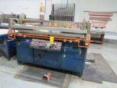 M & R Printing Equip Screen Printer, Model ECLFB-3850, Approx. 52 in. x 62 in., S/N 039523879E