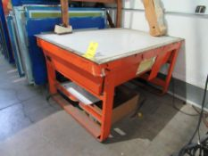 LOT: (2) Assorted Light Tables (1- 42 in. x 62 in. approx., 1- 30 in. x 40 in. approx.)