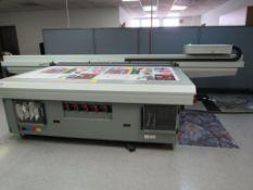 2018 OCE Arizona 2260 GT, High Volume UV Flatbed Printer, 6-Ink Channels, 49 in. x 98.4 in. Rigid