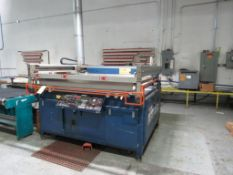 M & R Printing Equip Screen Printer, Model ECLFB-3850, Approx. 52 in. x 62 in., S/N 039523880E