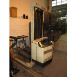 Crown Walkie Electric Reach Truck Model 30 WTL, 3000 lb. Cap., 130 in. Lift, 44 in. Forks w/
