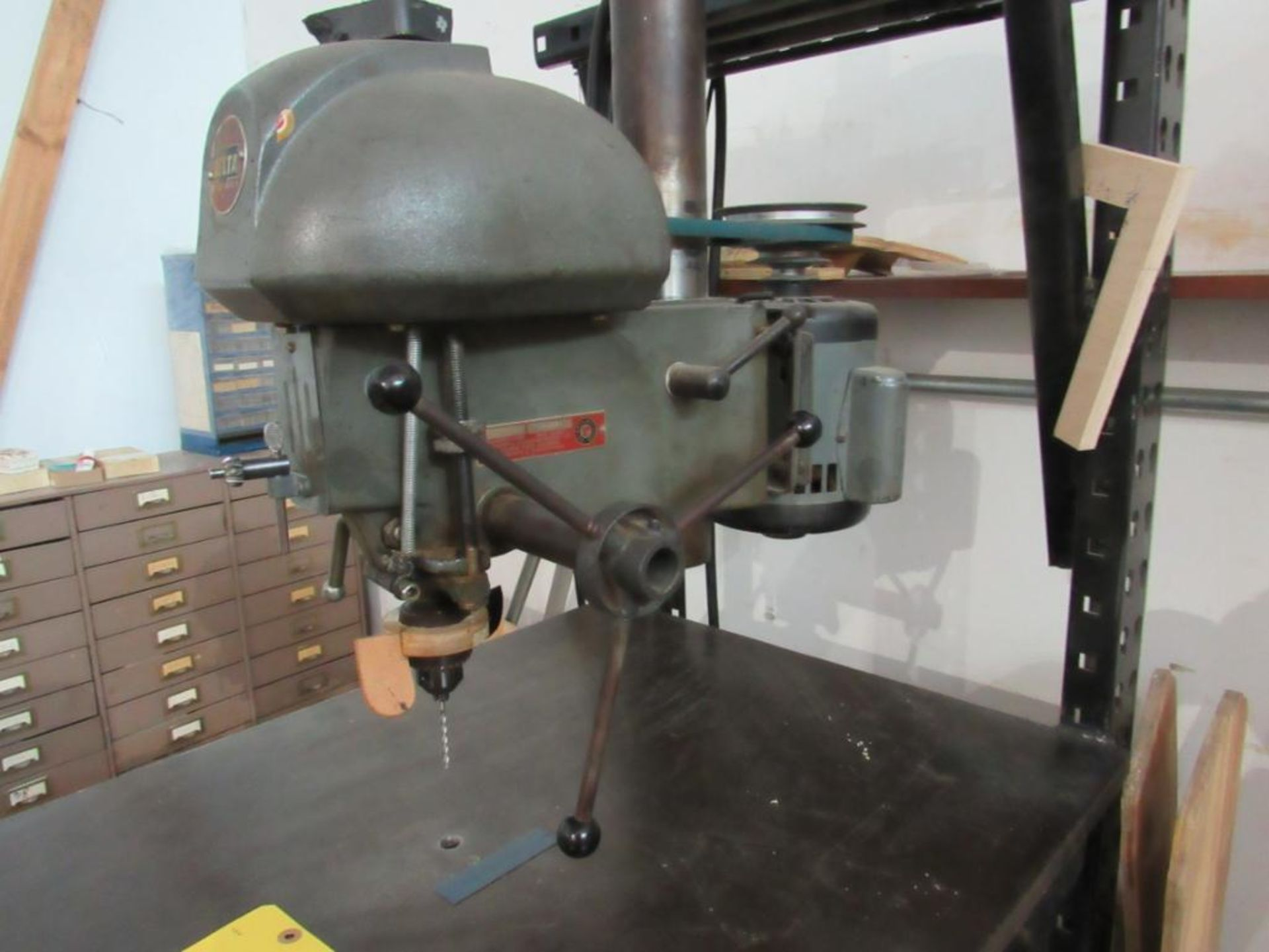 Delta 14 in. Drill Mounted on Portable Custom Table, 30 in. x 24 in. - Image 2 of 2