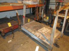 LOT: (5) Assorted 4-Wheel Wood Deck Shop Carts (1 - 30 in. x 48 in., 2 - 27 in. x 48 in., 1 - 24 in.