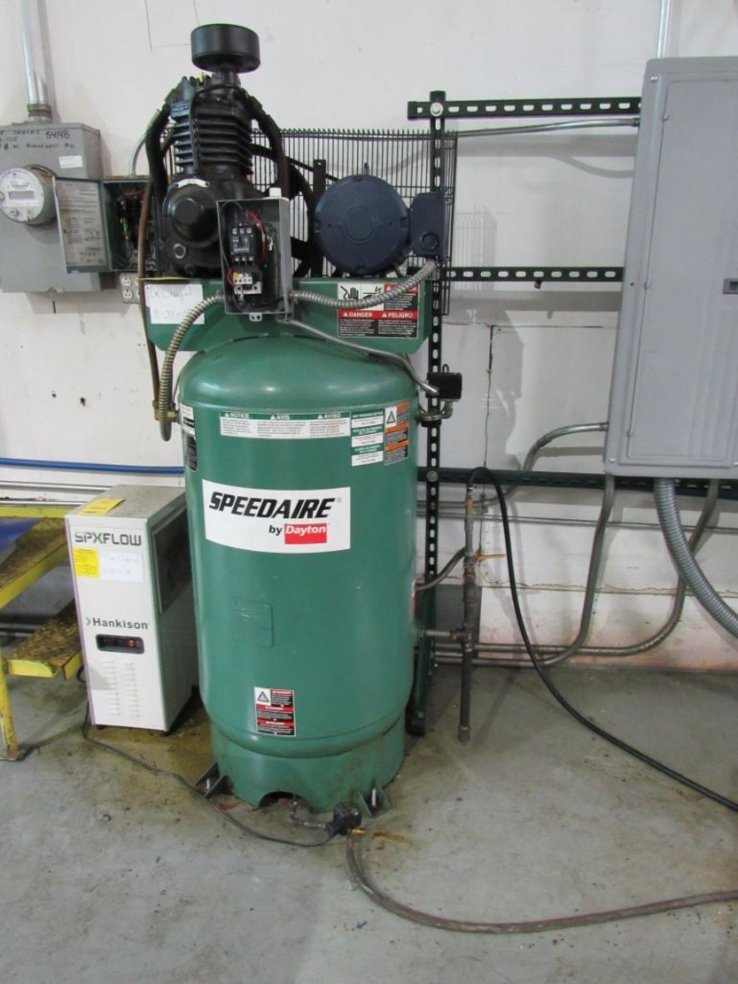 Speedaire Vertical Air Compressor, Model 4XA59, 5 HP, S/N N/A