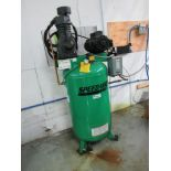 2018 Speedaire 5 HP Vertical Air Compressor, Model 35WC40 (TF41082XVA), 140-175 PSI, S/N B508536