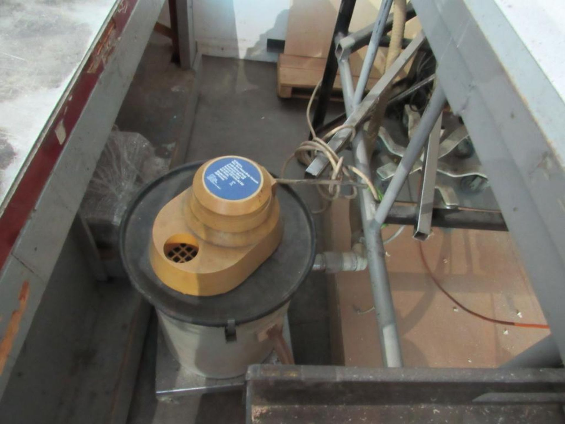 LOT: Deep Throat Electric Scroll Saw, 42 in. x 77 in. Table w/Shop Vac Dust Collector - Image 2 of 3