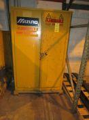 Mizuno 45 Gal. Single Door Flammable Storage Cabinet, 43 in. x 18 in. Deep x 66 in. High
