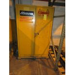 Mizuno 45 Gal. Single Door Flammable Storage Cabinet, 43 in. x 18 in. Deep x 66 in. High