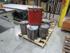 LOT: (7) Assorted Oily Rag Cans on (1) Pallet