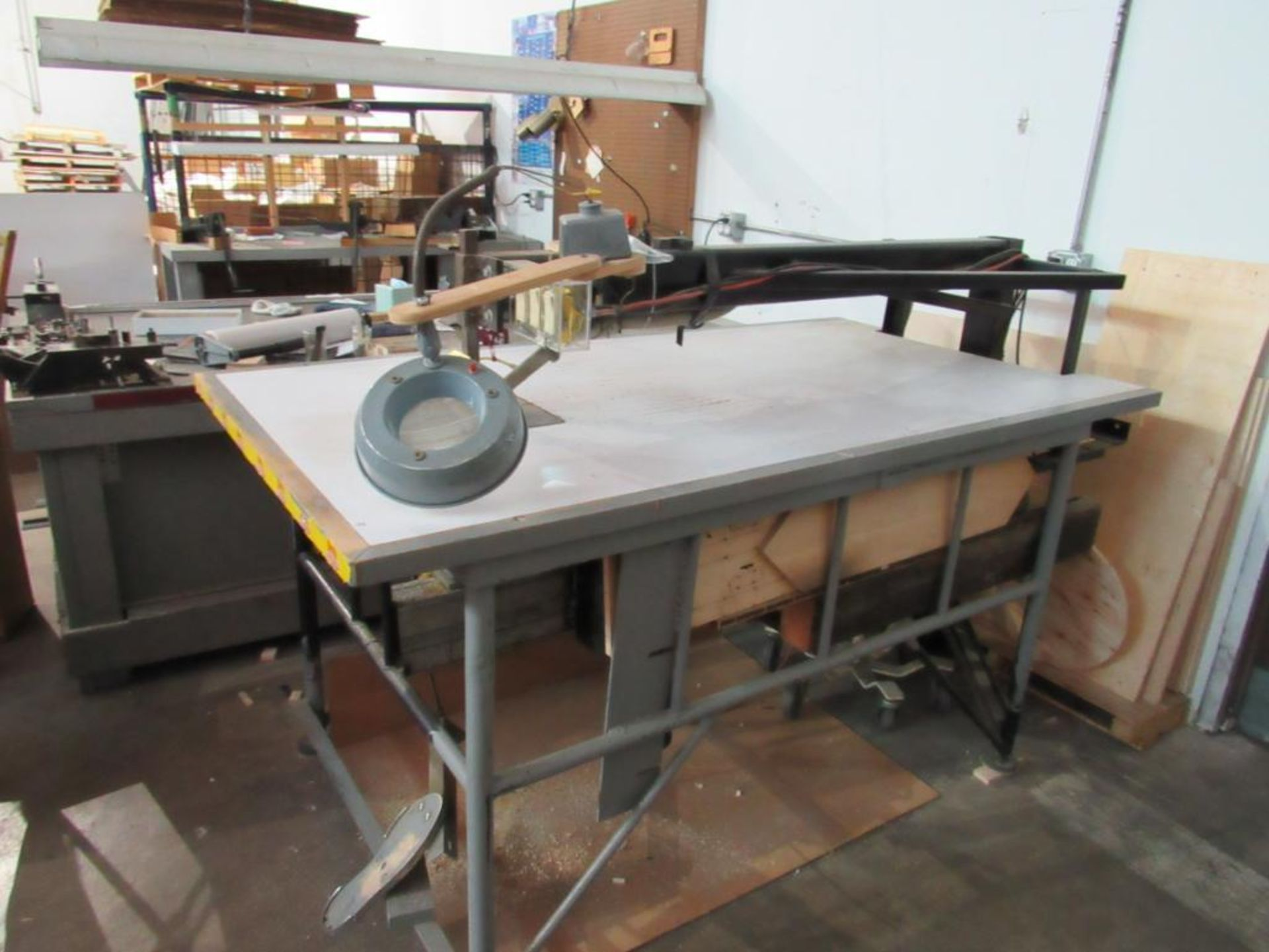 LOT: Deep Throat Electric Scroll Saw, 42 in. x 77 in. Table w/Shop Vac Dust Collector - Image 3 of 3