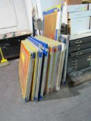 LOT: (30 approx.) Aluminum Screen Print Frames In and In Front of Screen Coating Room (MUST CUT