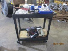 Plastic Rolling Cart (No Contents)
