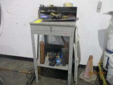 LOT: Steel Fabricated Foreman's Desk, Bi-Level Desk on Casters