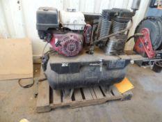 Horizontal Air Compressor, Honda 13 HP, Hose Reel, Mtd. On Pallet (Yard 1), LOCATION: 2435 S. 6th