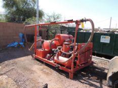 2011 Crafco Crack Vacuum Compressor, Skid Mounted, 1605 Hrs. Indicated, (ID# 10GV) (#69),