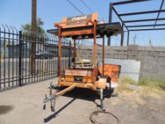 Allmand Eclipse Arrow Board, Portable, (PARTS ONLY - MISSING WHEEL & TIRE), (#117), LOCATION: 2435