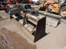 Annon/Woods 3-Point Hitch 7 ft. Box Blade w/8-Shank Hyd. Ripper Bar Includes( 1) Shank (Yard 2),