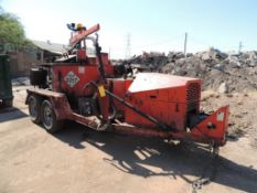 2016 Crafco EZ 1000 EB Melter/Applicator, Mounted on T/A Axle Trailer, VIN # 1C9ZB1224G1418033, (#