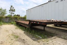 48 ft. (est.) Tandem-Axle Step Deck Beaver Tail Trailer, Steel Decking, Cable Winch, (Located at 420