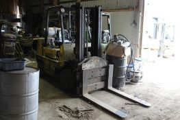 Hyster LP 8,000 lbs. Solid Tire Forklift, Cascade Rotator, Dual Mast, 120 in., S/N D004D08909X, (600