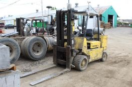 Hyster LP 12,000 lbs. S120XIS Solid Tire Forklift, Dual Mast, 111 in. Reach, 3,440 Indicated
