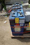 Desert Hog Forklift Battery Type E 125D-15, (600 N. Broadway Street, Aurora, IL 60505)