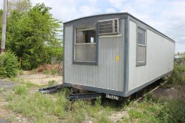 1988 30 ft. Single-Axle Miller Construction Office Trailer, 240 sq. ft., S/N 349753, (Located at 420