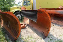 Steel Snow Plow Blade 132 in. W x 46 in. H (est). (Located at 900 Oak Street, Dekalb, IL 60115)