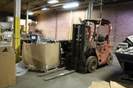 Clark LP 5,000 lbs. Solid Tire Forklift, Triple Mast, 149 in. Reach, S/N Y355153500, (Located at 900